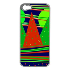 Magical Xmas night Apple iPhone 5 Case (Silver)