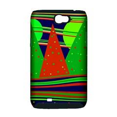 Magical Xmas night Samsung Galaxy Note 2 Hardshell Case (PC+Silicone)