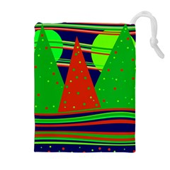 Magical Xmas night Drawstring Pouches (Extra Large)