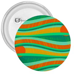 Green and orange decorative design 3  Buttons