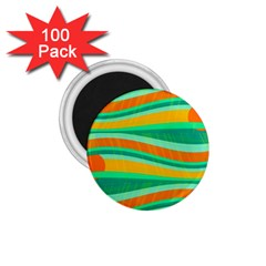 Green and orange decorative design 1.75  Magnets (100 pack)