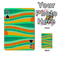 Green and orange decorative design Playing Cards 54 Designs
