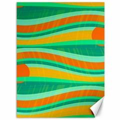 Green and orange decorative design Canvas 36  x 48