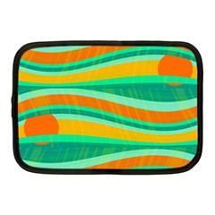 Green and orange decorative design Netbook Case (Medium)