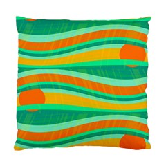 Green and orange decorative design Standard Cushion Case (Two Sides)