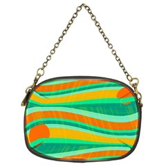 Green and orange decorative design Chain Purses (Two Sides)