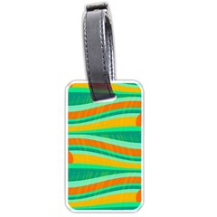 Green and orange decorative design Luggage Tags (One Side)