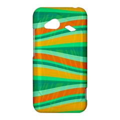 Green and orange decorative design HTC Droid Incredible 4G LTE Hardshell Case