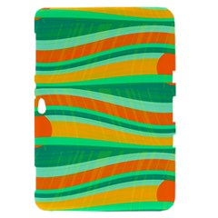 Green and orange decorative design Samsung Galaxy Tab 8.9  P7300 Hardshell Case
