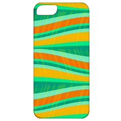 Green and orange decorative design Apple iPhone 5 Classic Hardshell Case