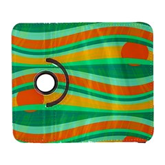 Green and orange decorative design Samsung Galaxy S  III Flip 360 Case