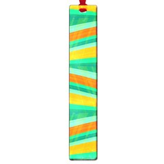 Green and orange decorative design Large Book Marks