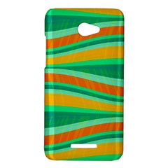 Green and orange decorative design HTC Butterfly X920E Hardshell Case