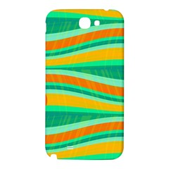 Green and orange decorative design Samsung Note 2 N7100 Hardshell Back Case