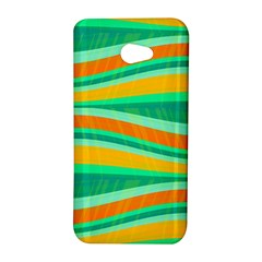 Green and orange decorative design HTC Butterfly S/HTC 9060 Hardshell Case