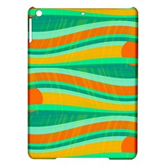Green and orange decorative design iPad Air Hardshell Cases