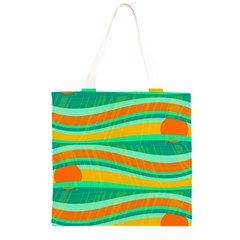 Green and orange decorative design Grocery Light Tote Bag