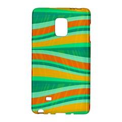 Green and orange decorative design Galaxy Note Edge
