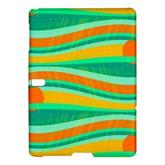 Green and orange decorative design Samsung Galaxy Tab S (10.5 ) Hardshell Case
