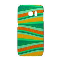 Green and orange decorative design Galaxy S6 Edge