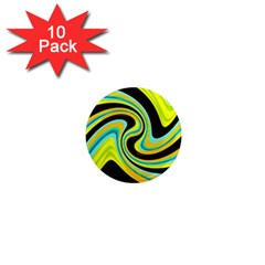 Blue and yellow 1  Mini Magnet (10 pack)