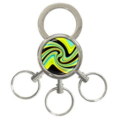 Blue and yellow 3-Ring Key Chains