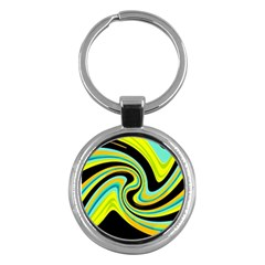 Blue and yellow Key Chains (Round)