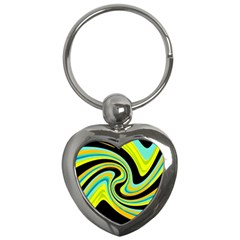 Blue and yellow Key Chains (Heart)