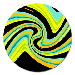 Blue and yellow Magnet 5  (Round)