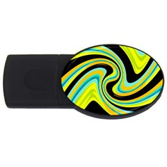 Blue and yellow USB Flash Drive Oval (2 GB)