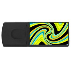Blue and yellow USB Flash Drive Rectangular (4 GB)