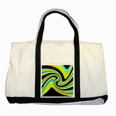 Blue and yellow Two Tone Tote Bag