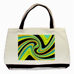 Blue and yellow Basic Tote Bag (Two Sides)