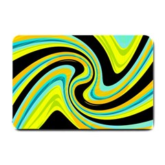 Blue and yellow Small Doormat