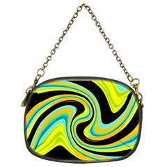 Blue and yellow Chain Purses (Two Sides)