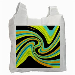 Blue and yellow Recycle Bag (One Side)