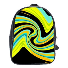 Blue and yellow School Bags(Large)