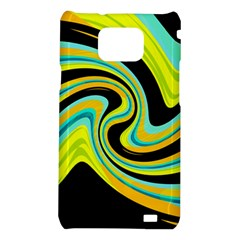 Blue and yellow Samsung Galaxy S2 i9100 Hardshell Case