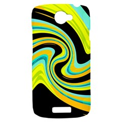 Blue and yellow HTC One S Hardshell Case