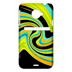 Blue and yellow HTC Evo 4G LTE Hardshell Case