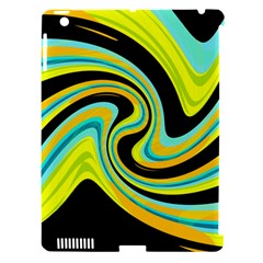 Blue and yellow Apple iPad 3/4 Hardshell Case (Compatible with Smart Cover)