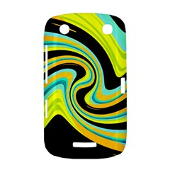 Blue and yellow BlackBerry Curve 9380