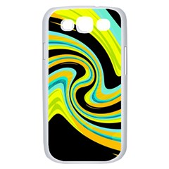 Blue and yellow Samsung Galaxy S III Case (White)