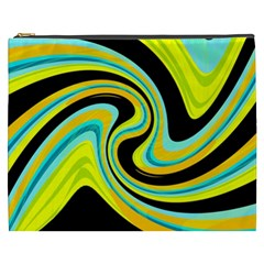 Blue and yellow Cosmetic Bag (XXXL)
