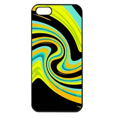 Blue and yellow Apple iPhone 5 Seamless Case (Black)