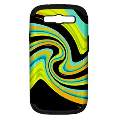 Blue and yellow Samsung Galaxy S III Hardshell Case (PC+Silicone)