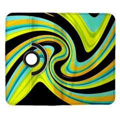 Blue and yellow Samsung Galaxy Note II Flip 360 Case