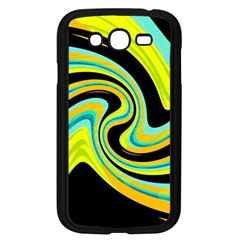 Blue and yellow Samsung Galaxy Grand DUOS I9082 Case (Black)