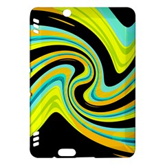 Blue and yellow Kindle Fire HDX Hardshell Case