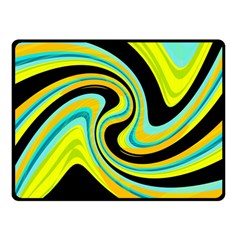 Blue and yellow Double Sided Fleece Blanket (Small)
